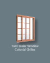 Twin Slider Colonial Grilles